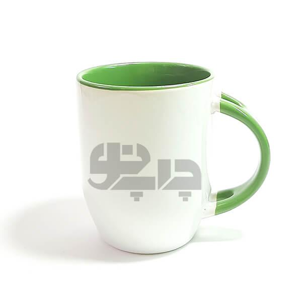 لیوان سرامیکی قاشق دار سبز