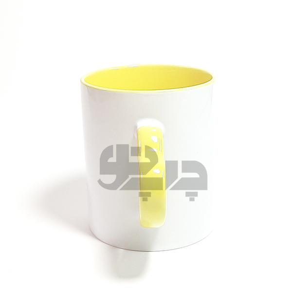 لیوان حرارتی دسته قلبی زرد