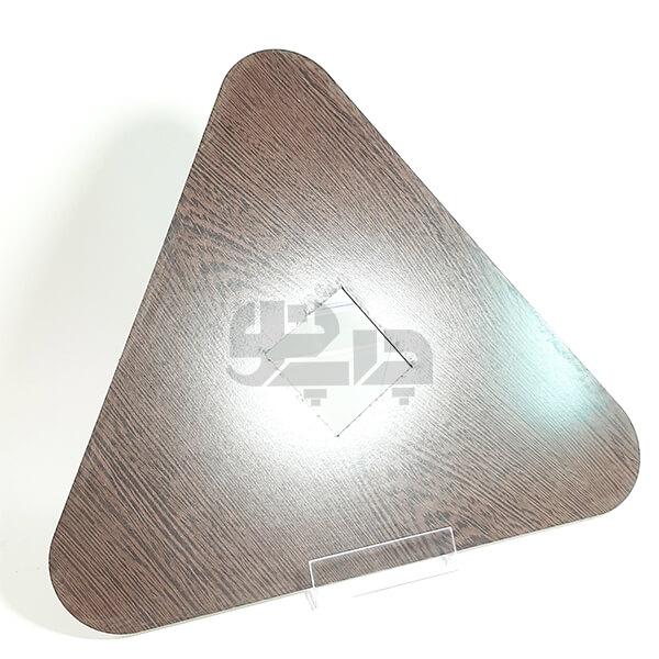 ساعت اداری چوبی مثلثی
