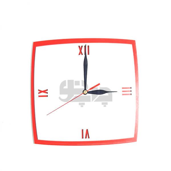 ساعت دیواری لبه قوس قرمز