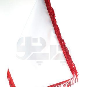 پرچم ساتن ریشه قرمز